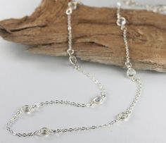 Hey, I found this really awesome Etsy listing at https://www.etsy.com/listing/114628782/long-layered-silver-necklace-clear