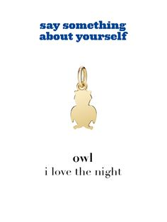 Dodo charm: owl - i love the night