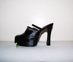 Vintage Shoe Black with Rhinestones by CheekyVintageCloset on Etsy, $26.00