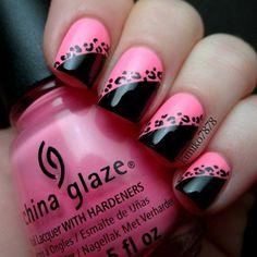#nails #nailart #beauty #pink #black #beauty #makeup #trendy #stylish #fashion #hands #chinaglaze