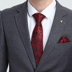 pocket square no tie Pocket Square Styles, Tie And Pocket Square, Pocket Squares, Paisley Tie, Suit Shirts, Cufflink Set, Tie Styles, Dapper Men, Tie Set