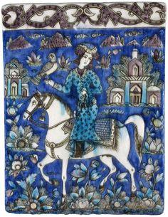 Persian tile, 19th century