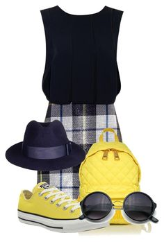 """""""Blue&Yellow"""" by jorge21 on Polyvore featuring Camilla and Marc, Moschino, Converse, women's clothing, women, female, woman, misses and juniors"""