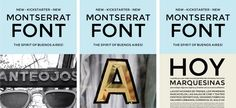Montserrat is a new libre sans text typeface for the web, inspired by the signage found in a historical neighborhood of Buenos Aires!