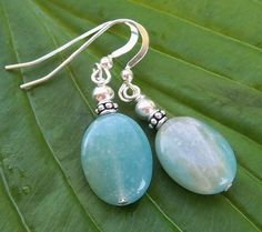 Amazonite and Bali Silver Earrings by Saralibbey on Etsy, $10.00