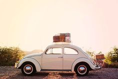I'd park this sweet car in my garage and drive it to the beach a couple of times a month. VW Bug