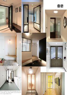 중문모음 Interior Architecture, Interior And Exterior, Interior Design, Door Design, House Design, Cafe House, Small Entryways, Interior Concept, House Doors
