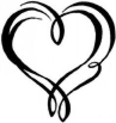 """Houten stempel """"gestileerd hart"""""""