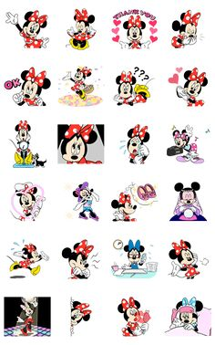 This set of animated stickers features Minnie Mouse doing what she does best - looking absolutely adorable. The cutest mouse around has never looked better! Use these stickers to light up your chats with her dazzling smile and classy fashion sense.