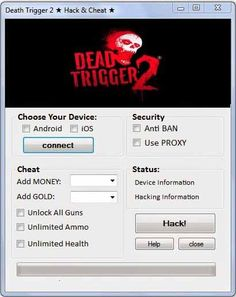 Dead trigger 2 hack tool Cheats Engine Free Download No Survey 4 android, IOS…
