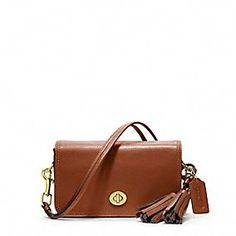 Coach LEGACY LEATHER PENNY SHOULDER PURSE. You can wear it short (by doubling the strap), as a cross body or as a clutch! So versatile.
