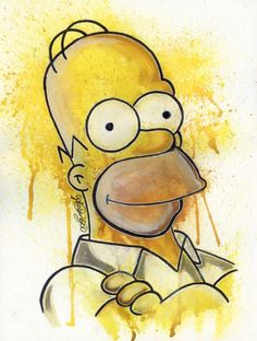 Here is a simple painting/drawing of Homer Simpson from the TV show 'The Simpsons'. Simpsons Drawings, Simpsons Art, Simpson Wallpaper Iphone, Cartoon Wallpaper, Homer Simpson, Wallpaper World, Dope Art, Futurama, Easy Paintings
