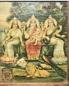 Jai Mata Parvati, Jai Mata Lakshmi, Jai Mata Saraswati, Jai Shri Ganesha, Jai Shri All Animals Shiva Art, Shiva Shakti, Krishna Art, Hindu Art, Mysore Painting, Tanjore Painting, Lord Ganesha Paintings, Krishna Painting, Hindu Deities