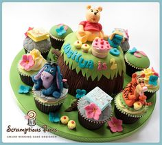 Big Cake Little Cakes : Winnie The Pooh & Friends by Scrumptious Buns (Samantha), via Flickr