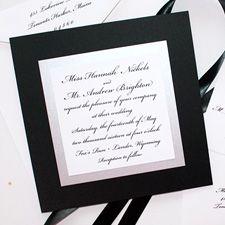 Black and white wedding invitations | Mospens Studio