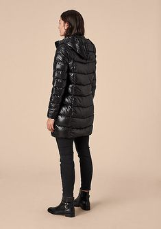 Downlights, Black Faux Leather, Parka, Jackets For Women, Winter Jackets, Coats, Woman, 21st Century, Trench
