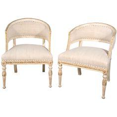 19th c. Swedish barrel back chairs