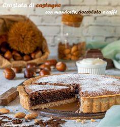 La CROSTATA DI CASTAGNE CON MANDORLE. CIOCCOLATO E CAFFE' è un fantastico dolce, goloso e perfettamente equilibrato, che si ispira ai sapori della famosa Torta Barozzi, un vero gioiello della pasticceria modenese. Questa crostata è semplice da realizzare, ma nasconde tanti piccoli segreti, che creano il suo gusto unico e la sua particolare bontà. #dolci #crostata #cioccolato #mandorle #castagne Profiteroles, Tiramisu, Bakery, Sweets, Ethnic Recipes, Desserts, Biscotti, Food, Instagram