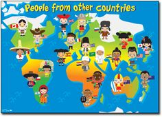 Early Years Theme – People from other countries poster by R.I.C. Publications