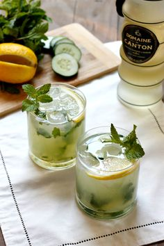 Ginger Cucumber Julep..a crisp and refreshing cocktail perfect for Spring!