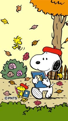 Snoopy and Woodstock Headed Back To Art School in Paris. Gifs Snoopy, Snoopy Images, Snoopy Pictures, Snoopy Quotes, Snoopy Love, Snoopy And Woodstock, Peanuts Cartoon, Peanuts Snoopy, Funny Encouragement