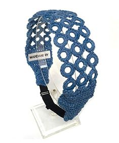 Wardani Cotton Crochet headband bra strap adjustable elastic Earthtone Denim * Check this awesome product by going to the link at the image.(This is an Amazon affiliate link and I receive a commission for the sales)