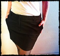 Skirt from old trousers