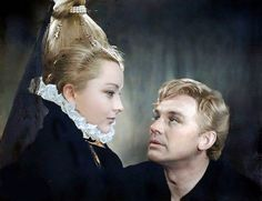 "Ophelia & Hamlet - Anastasia Vertinskaya and Innokenty Smoktunovsky in ""Hamlet"", 1964 Movie Couples, History Photos, Classy Women, Anastasia, Style Icons, Actors & Actresses, Eye Candy, Romantic, Culture"