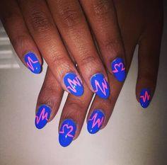 Neon pulse nail art #stylescavenger