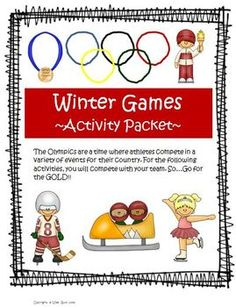 Winter Olympics Student Challenge (Five Fun Classroom Events)  This Winter Olympic Challenge will for sure get your students excited about the Winter Olympics as they compete against other teams for the gold!! $