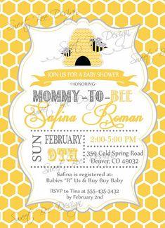 Bee baby shower invitedigital designmama to bee pinterest baby bee baby shower invitation mommy to bee by sweetbeedesignshoppe filmwisefo