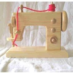 wooden play sewing machine