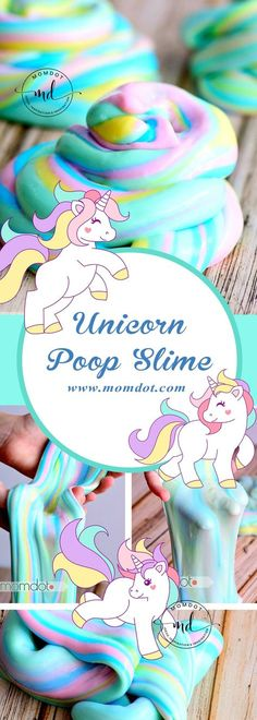 Unicorn Poop Slime Rezept - Beste DIY Slime MomDot Source by melbosa Slime Craft, Diy Slime, Unicorn Birthday Parties, Unicorn Party, 8th Birthday, Cool Diy, Galaxy Slime, Birthday Party Decorations Diy, For Elise