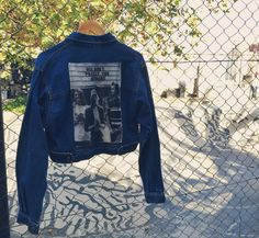 Denim vintage custom nirvana feminist jacket by @ceuhandmade