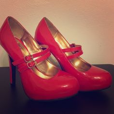 Red Mary Jane Double Strap Pump Size 7 Mary Jane Double Strap Pump Mossimo Supply Co Shoes Heels