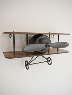 Retro Aeroplane Shelf , - Olive and Sage, Olive and Sage - 2