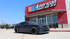 We finance! No credit needed! $49 down! Instant approval! 90% approval rating! 90 day option! #Financing #WheelFinancing  Call us at (713)682-1085 for more information or apply online:   http://www.americanwheelandtire.com/No-Credit-Needed-Wheel-Financing  Custom white tire lettering on a Chevrolet Camaro ZL1. #Chevrolet #Camaro #ZL1 - http://www.americanwheelandtire.com/