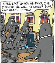 Religious humor cartoon comics www.theargylesweater.com