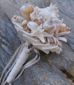Bridesmaid Seashell Bouquet / Beach Bouquet. $48.00, via Etsy.
