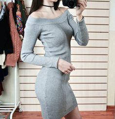 Aliexpress, Теплое секси-платье с открытыми плечами! - http://aliotzyvy.ru/aliexpress-teploe-seksi-plate-s-otkrytymi-plechami/