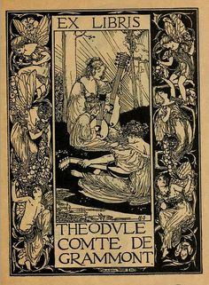 Bookplate of Theodule, Comte de Grammont by Robert Anning Bell | Flickr