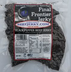 View our latest review of the Final Frontier Black Pepper Beef Jerky at
