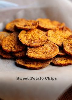 Transform sweet potatoes into a healthy snack by baking them into chips! Bariatric Eating, Bariatric Recipes, Diabetic Recipes, Low Carb Recipes, Cooking Recipes, Healthy Recipes, Ketogenic Recipes, Diet Recipes, Atkins Recipes