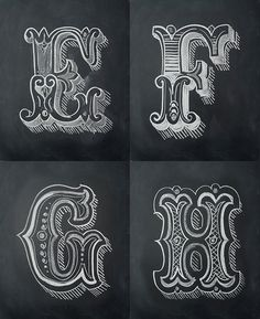 One of my NYE resolutions for 2013 was to design a letter a day. This is the set #1