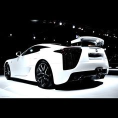Beautiful White Lexus LFA really awesome and obtainable for we ordinary folk! www.106sttire.com/wheels.html