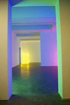 Dan Flavin. How do we light the basement like this, ha ha ha. More