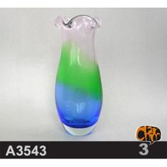 Size: 11.5DX27cm Material: Murano glass Description: All of our glass crafts are true hand blown. They are different from the other glass crafts which are made by machine. Our glass crafts are handicraft in its true sense. Our products are international certified, they are controled in the standard quality field. Now we have some stocks to sell,and the real products will look exactly the same as photos. $189.50