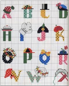 Monograms cross stitch