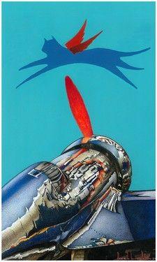 """Saatchi Online Artist daniel levy; Painting, """"aerocat"""" #art"""