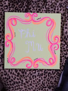 Phi Mu Canvas Painting #PhiMu #Canvas